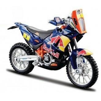 Bburago KTM 450 Red Bull Dakar Rally Blue 1:18 Scale 18-51071