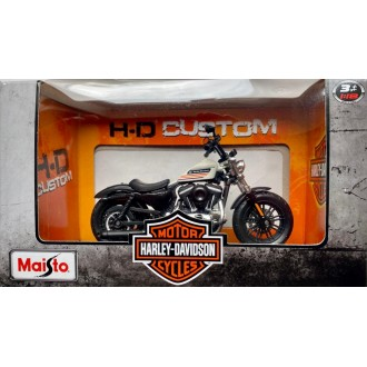 Maisto Harley Davidson Custom 2018 Forty-Eight Special Austrian Version Black and White 1:18 Scale