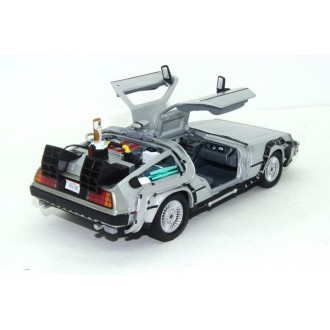 Welly Delorean Time Machine Back To The Future 2 with Adjustable Hover Mode Wheels 1:24 Scale 22441FV