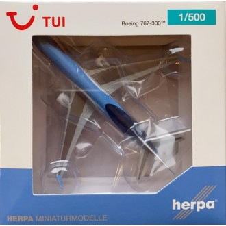"Herpa TUI Airlines Belgium Boeing 767-300 ""Sunshine"" OO-JNL 1:500 Scale 534246"