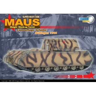 Dragon Armor Maus Super Heavy Tank with Mock-up Turret 1:72 Scale 60157