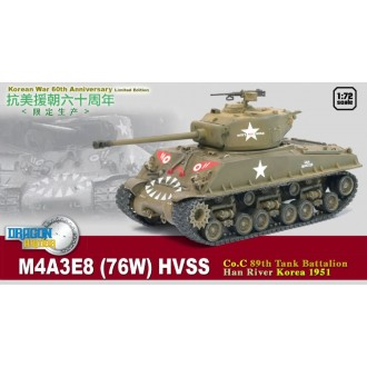 Dragon Armor M4A3E8 Sherman 89th Tank Battalion Han River Korea 1951 1/72 Scale 60469