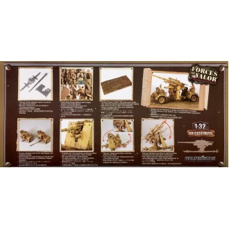 Forces of Valor German 88mm Flak 18 Anti-Tank Artillery Gun North Africa 1942 1/32 Scale 801008B