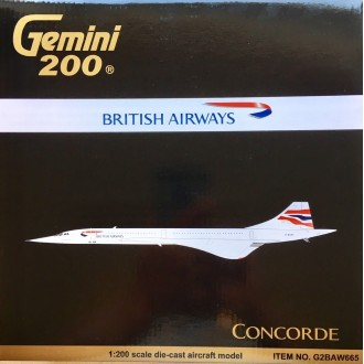Gemini 200 British Airways Concorde G-BOAF 1/200 Scale G2BAW665