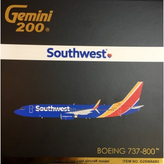 Gemini 200 Southwest Airlines Boeing 737-800 N8653A 1/200 Scale G2SWA682