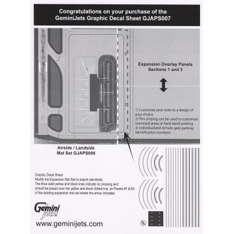 Gemini Jets Graphic Decal Sheet x1 for Airport Mat Sets 1/400 Scale GJAPS007
