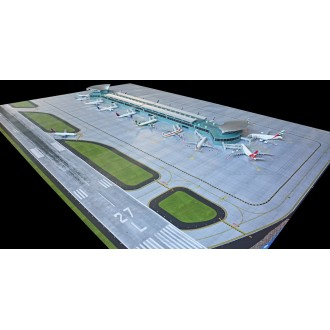 Gemini Jets Deluxe Airport Terminal Double Rotunda New Design 1/400 Scale GJARPTC