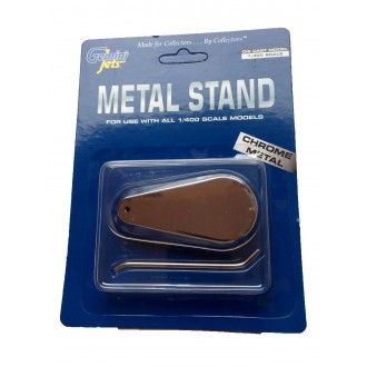 Gemini Jets Chrome Metal Display Stand For 1/400 Scale Models GJSTD777
