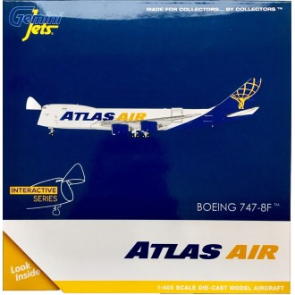Gemini Jets Atlas Cargo Boeing 747-8F N854GT 1/400 Scale - Gemini Jet's New Interactive Series GJGTI1888