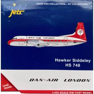 Gemini Jets Dan Air London Hawker-Siddeley HS-748 G-ARRW Scale 1/400 GJDAN112