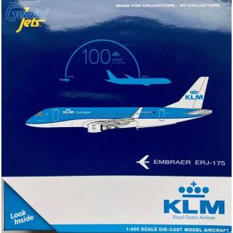 Gemini Jets KLM Cityhopper Embraer E175 PH-EXU Scale 1/400 GJKLM1901