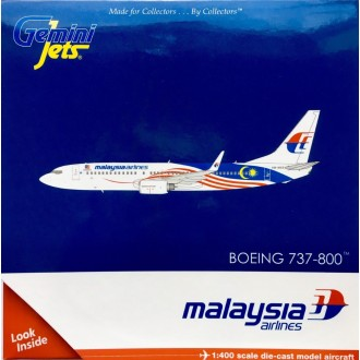 Gemini Jets Malaysia Airlines Boeing 737-800 Negaraku Livery 9M-MXS 1:400 Scale GJMAS1681
