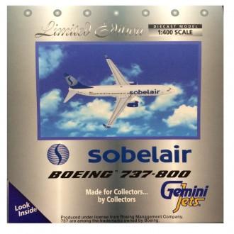 Gemini Jets Sobelair Boeing 737-800 OO-VAS 1/400 Scale GJSLR369