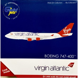 Gemini Jets Virgin Atlantic Airways B747-400 G-VBIG 1/400 Scale GJVIR1799