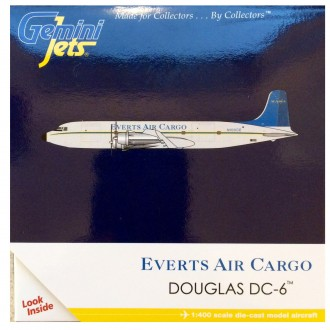 Gemini Jets Everts Air Cargo Douglas DC-6 N100CE 1/400 Scale GJVTS1151