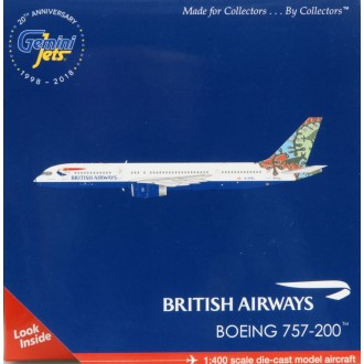 Gemini Jets British Airways Boeing 757-200 Animal and Trees Livery G-CPEL 1/400 Scale GJBAW1695