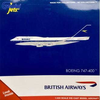 Gemini Jets British Airways Boeing 747-400 BOAC Retro Livery G-BYGC 1/400 Scale GJBAW1838