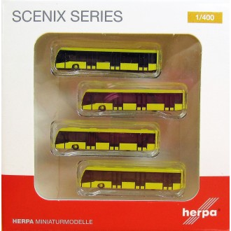 Herpa Wings Scenix Airport Bus Set x 4 Yellow 1/400 Scale 562591