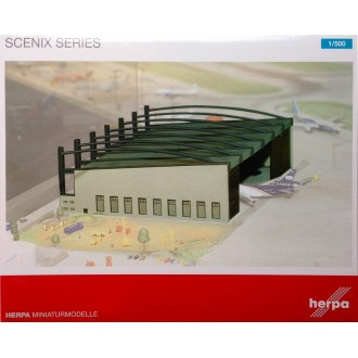 Herpa Wings Scenix Airport Hangar Model Construction Kit 1/500 Scale 519762