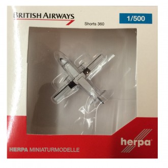 Herpa Wings British Airways Shorts 360 G-BVMX 1/500 Scale 527279