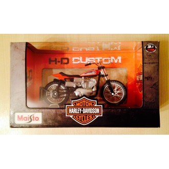 Maisto Harley-Davidson 1972 XR750 Racing Bike Red 1/18 Scale