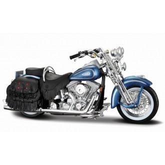 Maisto Harley-Davidson 1999 FLSTS Heritage Softail Blue 1/18 Scale
