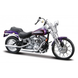 Maisto Harley Davidson 2001 FXSTS Springer Softail Purple 1/18 Scale