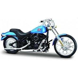 Maisto Harley Davidson 2002 FXSTB Night Train Blue 1/18 Scale