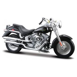 Maisto Harley Davidson 2004 FLSTFI Fat Boy Black 1/18 Scale