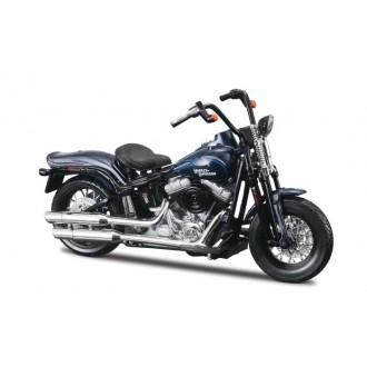 Maisto Harley Davidson 2008 FLSTSB Cross Bones Blue 1/18 Scale