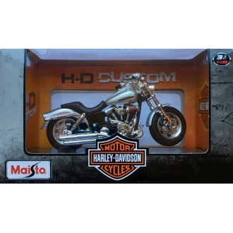 Maisto Harley-Davidson 2009 FXDFSE CVO Fat Bob Silver 1/18 Scale
