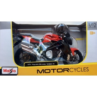 Maisto MV Agusta Brutale 1090 R 1/12 Scale Diecast Model Motorcycle Red
