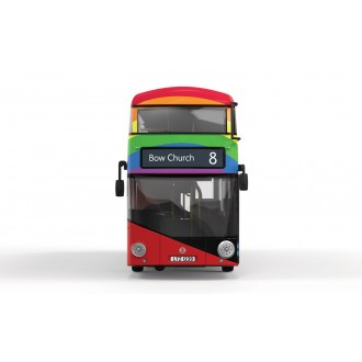 Corgi OOC New Routemaster Stagecoach 8 Bow Church Ride with Pride 1/76 Scale OM46618A