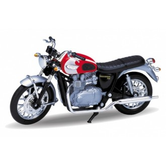Welly 2002 Triumph Bonneville T100 TR19660PW 1/18 Scale