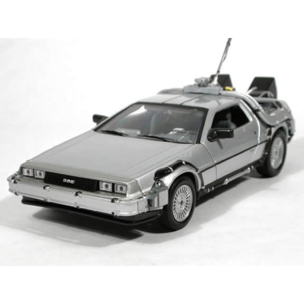 Delorean For Sale Uk >> Welly Delorean Time Machine Back To The Future 1 OUTATIME 1/24 Scale 22443W