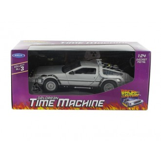 Welly Delorean Time Machine Back To The Future 1 OUTATIME 1/24 Scale 22443W