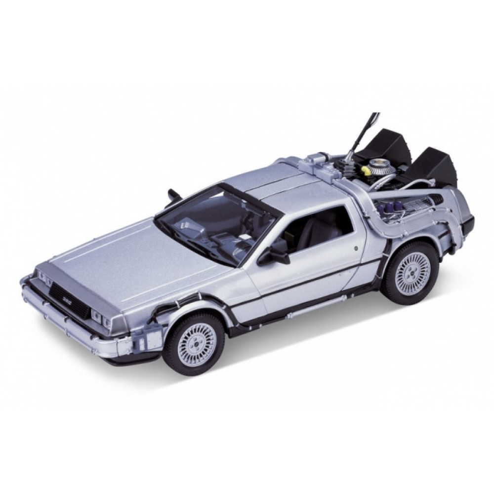 welly delorean time machine back to the future 1 outatime 1 24 scale 22443w. Black Bedroom Furniture Sets. Home Design Ideas