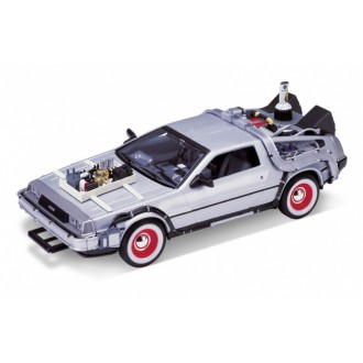 Welly Delorean Time Machine Back To The Future 3 1/24 Scale 22444W