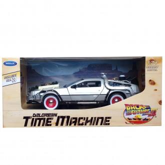 Welly Delorean Time Machine Back To The Future 3 1/24 Scale 22444W