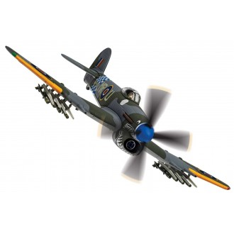 Corgi Aviation Archive Hawker Typhoon IB MP197 / MR-U, Sharkmouth No.245 Squadron 2nd Tactical Air Force Germany and RAF Warmwell Dorset England June-August 1945 1:72 Scale AA36513