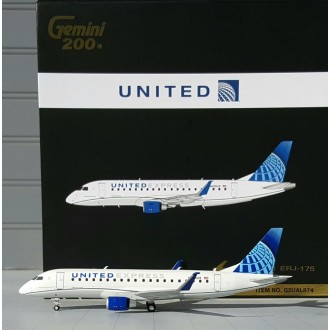 Gemini 200 United Express Embraer 175 N605UX 1:200 Scale G2UAL874
