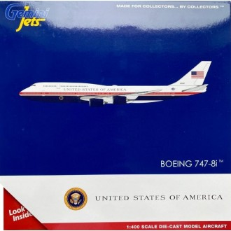 Gemini Jets Us Air Force One B747-8i 30000 VC-25B New Red White and Blue Livery 1/400 Scale GJAFO1913 PREORDER