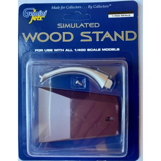 Gemini Jets Simulated Wood Display Stand For 1/400 Scale Models GJSTD1487