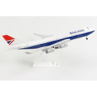 Skymarks British Airways 747-400 Negus Retro Livery 100 Year Anniversary 1919-2019 with Landing Gear G-CIVB 1:200 Scale SKR1037